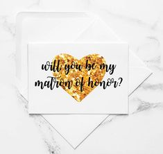 Will You Be My Matron of Honour? - Printable Cards by the Sour Cactus on Etsy