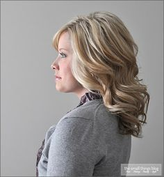 The Small Things Blog: Hair - So many different ways to style shoulder length hair.