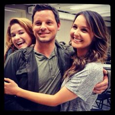 Sarah Drew Photobombs Justin Chambers and Camilla Luddington