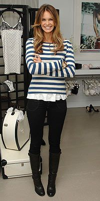 Cute stripe sweater with black