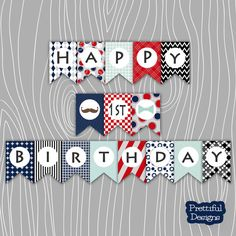 Hey, I found this really awesome Etsy listing at https://www.etsy.com/listing/169541223/happy-1st-birthday-boy-banner-blue-red