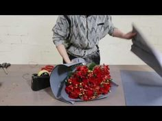How to create a passionate Red Roses & Alstroemeria bouquet - YouTube