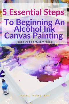 Jenna Webb Art—Complete Alcohol Ink Painting Guide - Abstract Art for the Soul Alcohol Ink Glass, Alcohol Ink Crafts, Alcohol Ink Painting, Alcohol Inks, Pour Painting, Painting Tips, Jenna Webb, Homemade Alcohol, Ink Splatter