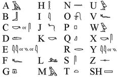 Looking for a Printable Hieroglyphic Alphabet For Kids. We have Printable Hieroglyphic Alphabet For Kids and the other about Emperor Kids it free. Alphabet A, Alphabet Symbols, Alphabet For Kids, Egyptian Alphabet, Egyptian Symbols, Ancient Symbols, Ancient Egypt, Egyptian Hieroglyphs, Hieroglyphics Tattoo