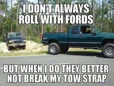 Ford hater thought this was pretty funny Truck Quotes, Truck Memes, Funny Car Memes, Truck Humor, Hilarious, Funny Guys, Chevy Jokes, Ford Jokes, Chevy Vs Ford