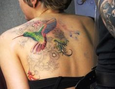 Tattoos for women hummingbird - 55 Amazing Hummingbird Tattoo Designs <3 <3