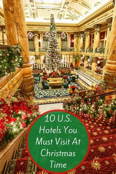 hotels go all out for Christmas and New Year with special decorations, afternoon teas, elf-tuck-ins, breakfast with Santa and much more. Book a stay now! Christmas Getaways, Christmas Destinations, Christmas Town, Christmas Travel, Christmas Vacation, Vacation Destinations, Family Christmas, Dream Vacations, Vacation Spots