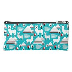 Don't forget the llama's wintery side with this Aztec Llama Pencil Case | Zazzle