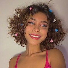 Clip Hairstyles, Hairstyles With Bangs, Short Curly Hair, Curly Hair Styles, Curly Wigs, Aesthetic Hair, Grunge Hair, About Hair, Hair Inspiration