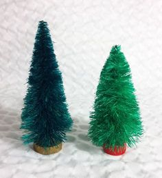 Make your own bottle brush trees, this is so cool!