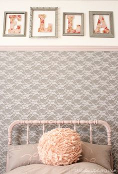 DIY Projects To Make Your Rental Home Look More Expensive-lace wall