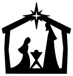 "xmas cards nativity silhouette | 10 x CHRISTMAS DIE CUT ""NATIVITY"" SILHOUETTES IN BLACK"