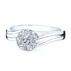 Solitaire Diamond Theia Engagement Ring 14K White Gold