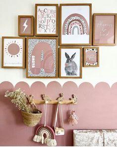 Rainbow Prints Dalmatian Print Nursery Prints Dusty Pink   Etsy