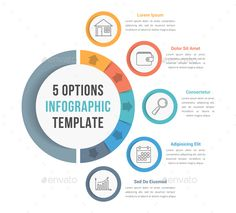 5 Options #Infographic Template - Infographics Download here: https://graphicriver.net/item/5-options-infographic-template/19774981?ref=alena994