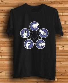 6354e65e1fa New The Big Bang Theory Rock Paper Scissors Logo by kingclothing