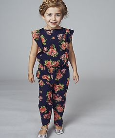 Baby K Floral Jumpsuit. An on trend jumpsuit with a pretty floral print designed exclusively for Mothercare.