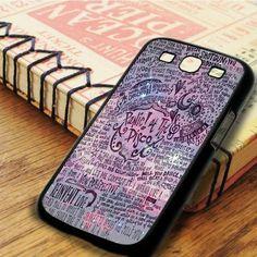 Panic At The Disco Lyric Samsung Galaxy S3 Case