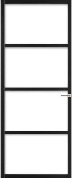 Houten frame is stuk goedkoper dan stalen glazen deur