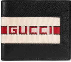 4f7e84ba47c007 Gucci stripe leather wallet Gucci Wallet, Leather Wallet, Gucci Gucci,  Handbag Accessories,