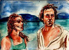 """""""Meditazioni sul niente. 2"""".  La spiaggia è ancora deserta di maggio, in questa zona del litorale lontana da tutto. La corriera mi ha lasciato da solo a questa fermata, e l'autista mi ha osservato più volte: un tipo strano, avrà pensato di me, come strano è andare a perdersi qua attorno, anche se in fondo ogni luogo è sempre quello più adatto per una cosa del genere.... (di Bruno Magnolfi - illustrazione di Giulia Tesoro)."""