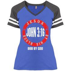 John 3:16 Game V-Neck T-Shirt