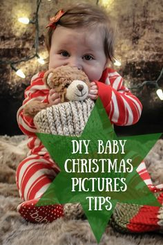 Learn how to create the perfect Christmas baby photos with these DIY photo tips.