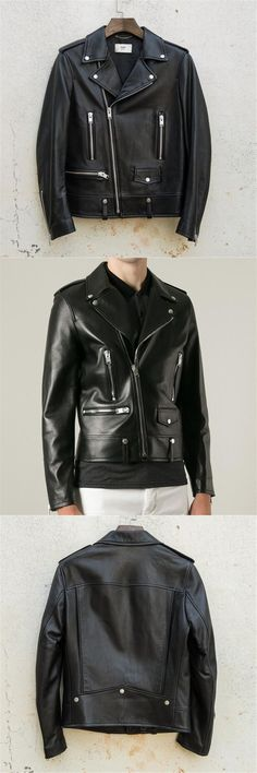 Men's Leather Jacket Genuine Leather New Arrival Fashion Solid Men's Short Leather Jacket motorcycle leather coats men coats 3XL