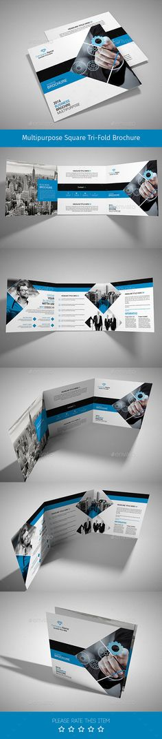 Corporate Tri-fold Square Brochure Template PSD. Download here: http://graphicriver.net/item/corporate-trifold-square-brochure-03/14844677?ref=ksioks