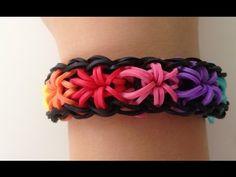 ▶ RainbowLoom Sternen-Armband (Anleitung deutsch) - YouTube