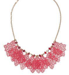 Coral Filigree Dangle Necklace | $12 | jewelboxonline.com