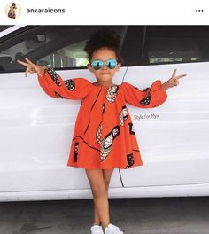 Ankara Styles For Kids; Little Girls And Baby Girls Ankara Styles Baby African Clothes, African Dresses For Kids, Latest African Fashion Dresses, African Children, African Print Fashion, Africa Fashion, Ankara Fashion, African Prints, African Fabric