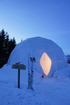 WhitePod Alpine Ski Resort—Monthey, Switzerland.