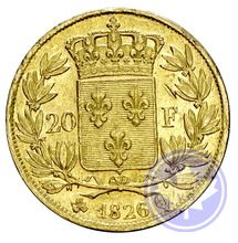Monnaie française: 20 francs Charles X 1826q ttb