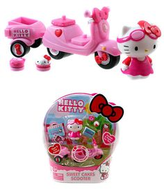 Hello Kitty Vespa Sweet Cakes Scooter Toy