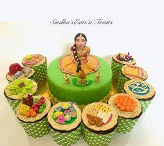 Kids Blouse Designs, Hand Work Blouse Design, New Cake Design, Cake Designs, Indian Wedding Cakes, Tamil Wedding, Half Saree Function, Baby Shower Plates, Wedding Crafts