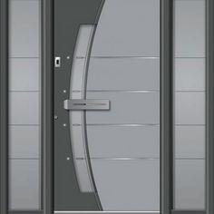 New Gate Design, Home Door Design, Duplex House Design, Modern Front Door, Internal Doors, Milano, Windows, Interior Design, Furniture