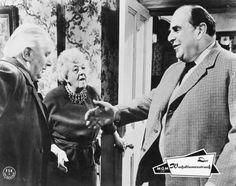 Stringer Davis, Margaret Rutherford and Robert Morley in Murder at the Gallop, 1964