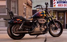 Nimble performance with a dark, gritty no nonsense attitude. Custom Sportster, Custom Harleys, Custom Bikes, Harley Davidson Parts, Harley Davidson Motorcycles, Cars And Motorcycles, Hot Bikes, Motor Company, Best Model