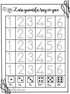 Preschool Printables, Preschool Math, Kindergarten Math, Teaching Colors, Learning Numbers, Teaching Aids, Cool Writing, My Little Baby, Math Worksheets