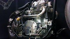yamaha xs650 bobber engine detail | bobbed to the bone