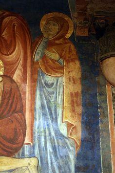 Artisti senesi 2° metà del '200 (Guido da Siena, Dietisalvi di Speme, Guido di Graziano, Rinaldo da Siena) - Deposizione (dettaglio) - 1280 circa - affresco - Cripta del Duomo, Siena