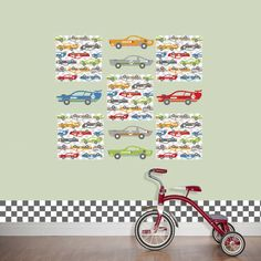 WallPops! Kids Rally Racers Wall Decal Set