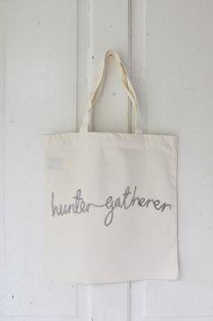 I am the hunter gatherer rope tote by iamahunter