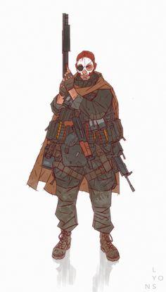 Skull Team Bounty Hunter, Richard Lyons on ArtStation at… Character Design Challenge, Character Design References, Character Design Inspiration, Cyberpunk Character, Cyberpunk Art, Character Concept, Character Art, Concept Art, Sci Fi Characters