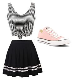 """""""Skater chic"""" by dbennetti on Polyvore featuring WithChic and Converse"""