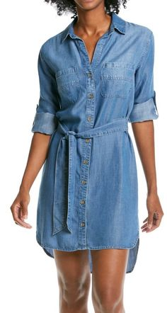 The perfect dress for…a full day of classes and meetings. | Cloth & Stone denim dress