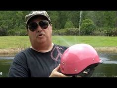 HCI 105 Pink Polo Half Motorcycle Helmet DOT Approved