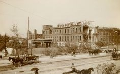 Damage at City Hospital at Eighteenth Street and Lafayette Avenue after the 1896…