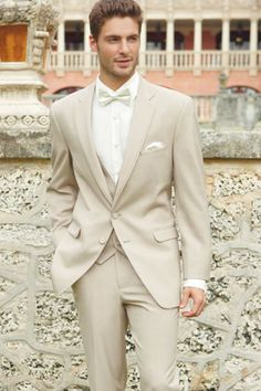 2017 Ivory Wedding Suits For Men Champagne Tuxedo Costume Homme Mariage 3 Peice Suit Bridegroom Groom Suit (Jacket+Pants+Vest). Beige Suits Wedding, Tuxedo Wedding, Wedding Men, 2017 Wedding, Trendy Wedding, Wedding Tuxedos, Wedding Summer, Tan Suits For Wedding, Wedding Ceremony